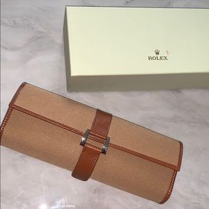 Rare Rolex Canvas and Leather Watch Roll